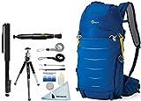 Lowepro Photo Sport BP 200 AW II Waterproof Photo Backpack (Blue) + Accessory Bundle For Canon - Nikon - Sony - Olympus - Pentax Digital SLR Cameras