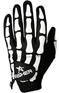 Asher Golf Glove DEATHGRIP COOLTECH death grip cool tech skeleton skull by Asher Gloves