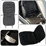 Winter Essential Interior Black Front Comfy Warm Heated Seat Cover Cushion for Saab 9-3 (1998-2003) Convertible - Heats in Seconds