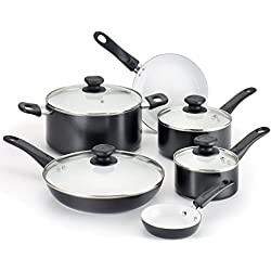 WearEver A630SA Complete Nonstick Ceramic Coating Scratch-Resistant 10-Piece Cookware Set