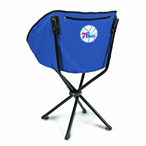 NBA Philadelphia 76ers Portable Folding Sling Chair, Navy by Picnic Time