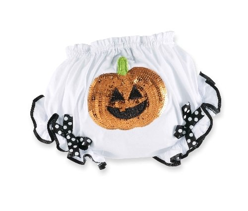 Mud Pie Baby-Girls Newborn Pumpkin Bloomers, Multi, 0-6 Months