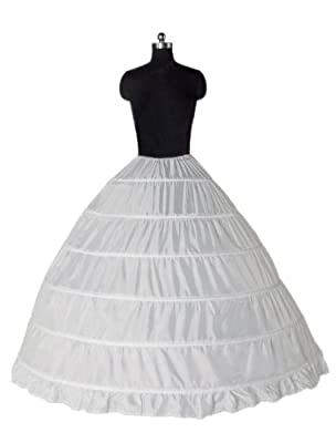 Dressystar Ball Gown 1 Tier Floor Length Wedding Dress Petticoats and Slips
