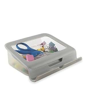 Belkin - Tablet Stand with Storage - Socle de bureau - gris, blanc - B2B