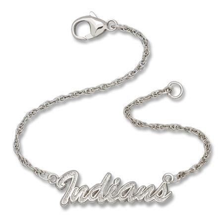 Cleveland Indians Script Bracelet by LogoArt(r) - Silver One Size