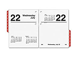 At-A-Glance Compact Size Daily Desk Calendar Refill - Daily - 3.75 x 3 - January till December 1 Day Double Page Layout by LD Products