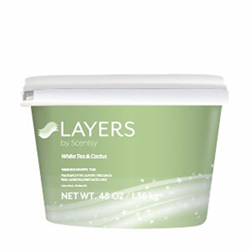 Layers by Scentsy Washer Whiffs (White Tea and Cactus, 48 oz Tub) (Layers Washer Whiffs compare prices)
