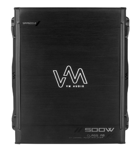 New VM Audio SRA500.2 500W 2 Channel Car Amplifier Power Amp MOSFET Stereo