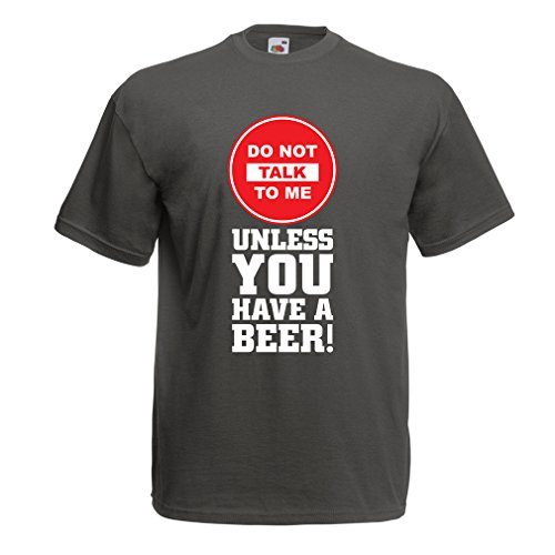 N4621 T-shirt da uomo La birra magliette! (XX-Large Grafite Multicolore)