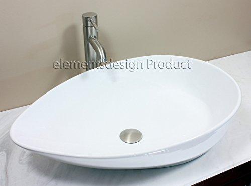 Bathroom Ceramic Porcelain Vessel Sink Cv7755N3 Nickel Faucet Drain
