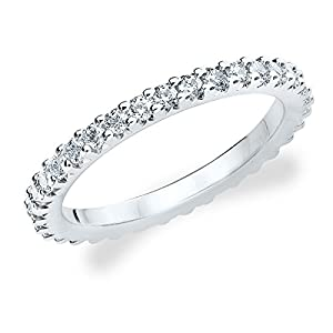 Platinum Diamond Knife Edge Eternity Band (1.0 cttw, F-G Color, VS1-VS2 Clarity) Size 11