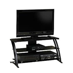 Sauder Deco Panel TV Stand, Black