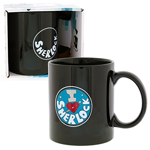Sherlock Holmes Mug - I Heart Sherlock Heat Reveal Coffee Cup - BBC Show Licensed (Sherlock Holmes Fan compare prices)