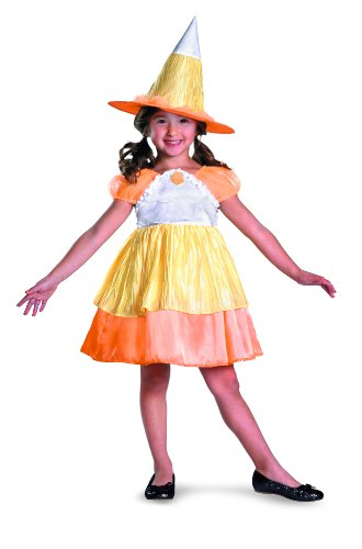 Disguise Sugar Shock Candy Corn Witch Classic Costume