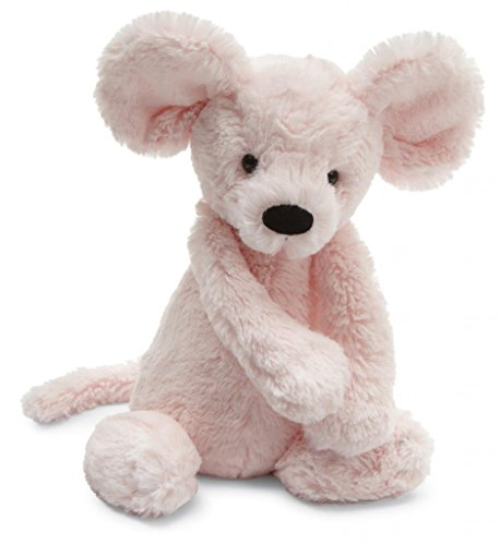 "Jellycat® Bashful Pink Mouse, Medium - 12"" front-998891"