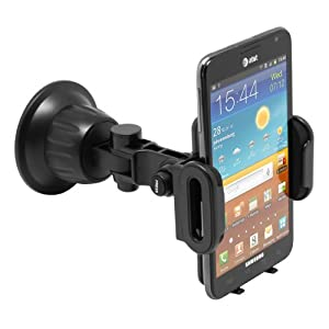 Satechi CR-3600 Universal Car Holder & Mount for iPhone 5, 4S, 4, 3GS, 3G, Samsung Galaxy S3, S2, Note, Note 2, Nexus S, HTC One X, S, Motorola Droid Razr HD, Maxx, Nokia Lumia 920, LG Optimus G on Windshield & Dashboard from Satechi