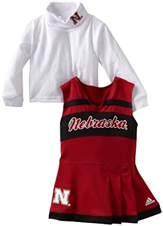 NCAA Nebraska Cornhuskers Toddler Cheer Jumper Dress with Tank (Red, 3T)