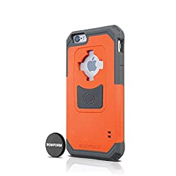Rokform iPhone 6/6s Sport Series Case/Cover, Slim, Rugged, Ultra Protective, Reinforced TPU Corners Molded to Tough Polycarbonate, Mounts anywhere and includes Proven Safe Magnetic Car Mount, Orange/GunMetal 302254