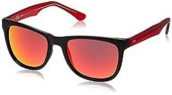 Fila Iridium Wayfarer Men's Sunglasses - (SF903554703RSG|54|Smoke with Red Mirror)