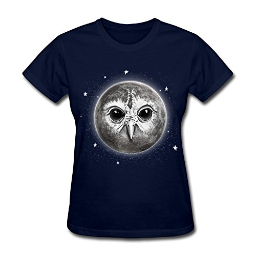 Ptcy Lady Tee Animal Night Owl Moon Us Size Xl Navy front-545898