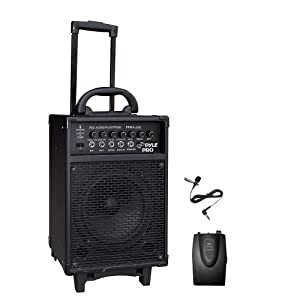 PYLE-PRO PWMA260 300 Watt Wireless Rechageable Portable PA System With Lavalier Microphone