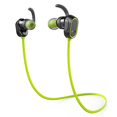 Anker SoundBuds Sport (Bluetooth 4.0 防水イヤホン) 8時間連続再生 / IPX4防水機能搭載 / 内蔵マイク搭載 iPhone、Android各種対応 スポーツイヤホン (グリーン)