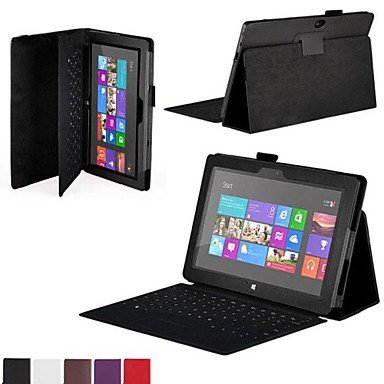"""Electronic-Ddl Leather Cover Case For Microsoft Surface Rt 10.6"""" Tablet Without Keyboard , Red"""
