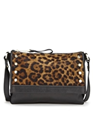 Autograph Leather Leopard Print Cross-Body Bag