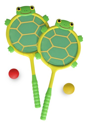 Melissa & Doug Sunny Patch Tootle Turtle Racquet and Ball Set
