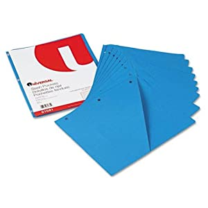 Slash-Cut Pockets for Three-Ring Binders Jacket Letter 11 Pt. Blue 10/Pack