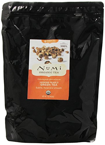 Numi Tea Jasmine Pearls, Flowering Tea, 1 Lb. Bag