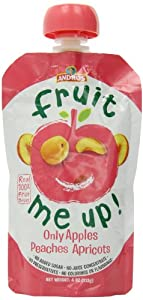 Fruit Me Up Apples Peaches and Apricots Fruit Pouch, 4 Ounce (Pack of 9)