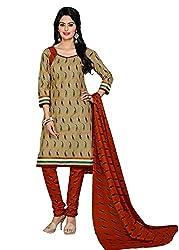 RK Fashion Beige Colour Cotton Unstitched Dress Material (CHANDANI1046-Beige-Free Size)