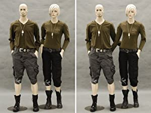 (MD-SARA) ROXYDISPLAYTM Female Mannequin, Flexible arms with Arms by Side. Fleshtone with Make-up (Color: MD-SARA)