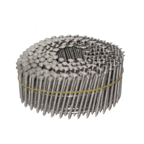 NailPro 1-3/4 Inch by 0.093 - Ring Shank Siding Nail - 15 Degree Wire Coil - Stainless Steel - 3600 pc. / CTN