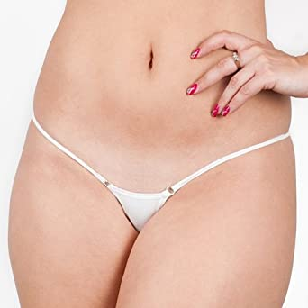 Halcyon Blue White Everyday 506 Micro G String Knickers: Amazon.co ...