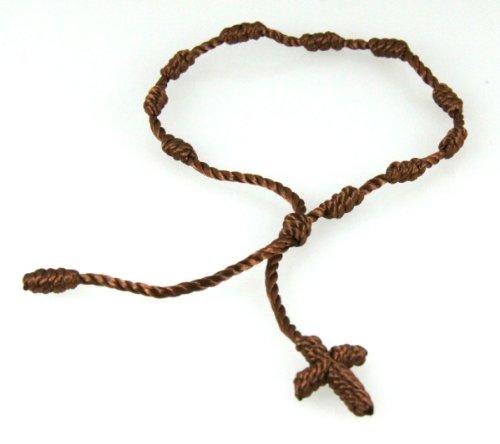4030573 Brown Decenario Pulseras Knotted Thread Cross Bracelet Hip Hop Kanye West