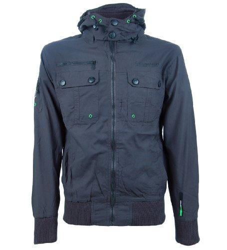 Crosshatch 'Hollies' Men's Lightweight Windbreaker Jacket Grey XL