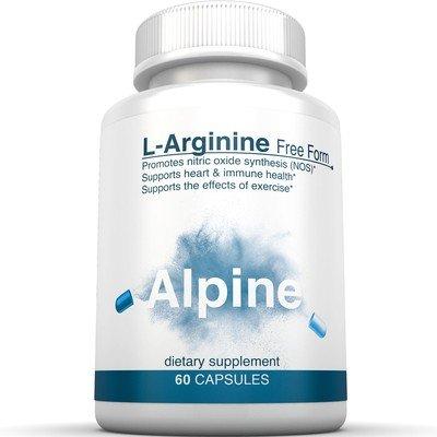 Alpine Nutrition L-Arginine 500mg Free Form - NOS Nitric Oxide Capsules - 60 Veggie Capsules (Fenugreek Extract Cream compare prices)