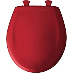 Bemis 200SLOWT 153 Round Closed Front Toilet Seat, Red