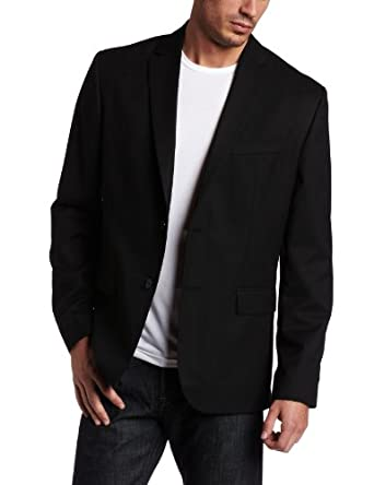 Calvin Klein Sportswear Men's Solid Classic Fit Sport Coat, Black, Medium Regular