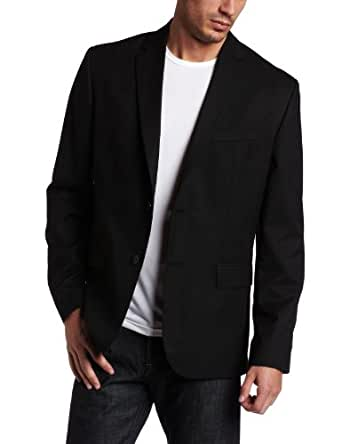 Calvin Klein Men's Solid Classic Fit Sport Coat, Black, Medium Regular