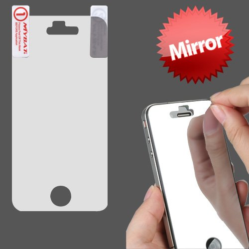 Mirror Lcd Screen Cover Protector Film With Cloth Wipe For Apple Iphone 4 4S front-1018730