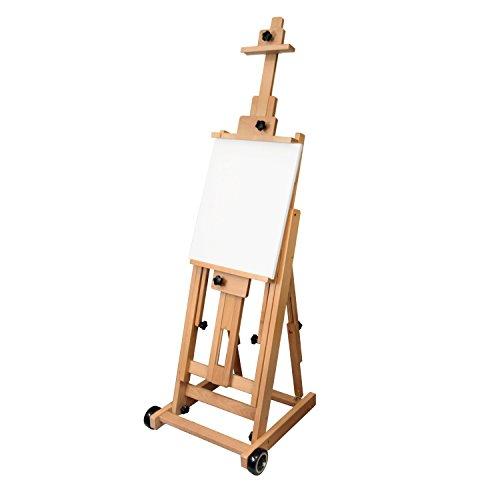 US Art Supply Master Multi-Function Studio Artist Wood Floor Easel, 19