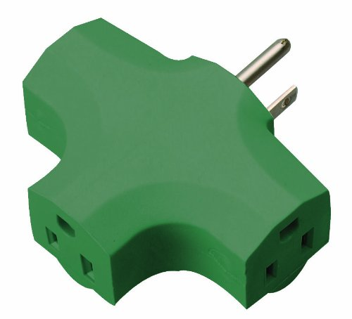 Coleman Cable 9905 Heavy-Duty 3-Outlet Adapter, Green (Split Cord Extension compare prices)