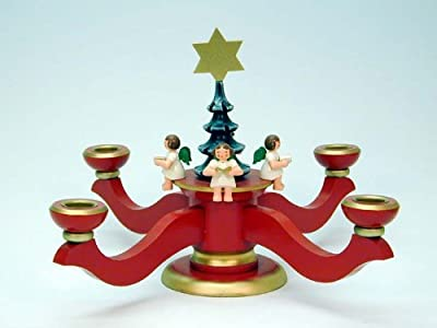 World Of Light Candle Holder Advent Red - 200 Cm 8 Inch - Christian Ulbricht by Christian Ulbricht