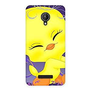 Delighted Yellow Tweet Back Case Cover for Micromax Canvas Spark Q380