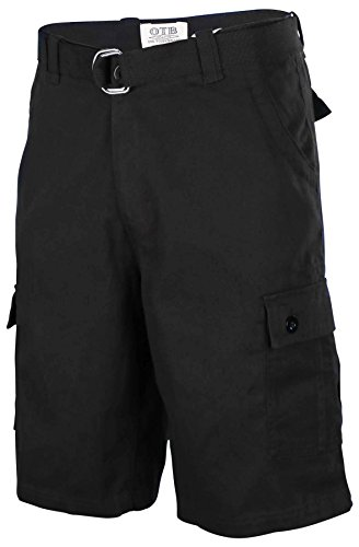 one-tough-brand-mens-cotton-twill-belted-cargo-shorts-black-36