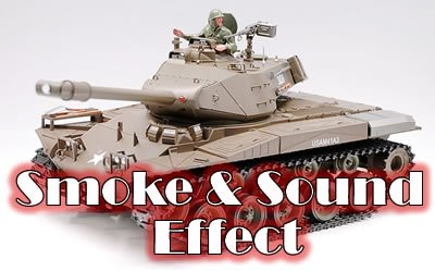Smoking 1:16 RC US M41A3 Walker Bulldog Airsoft R/C Light Tank with Engine Sound and Machine Gun Sound