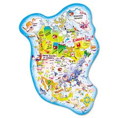 Cheap Fun Chenille Kraft® Giant North America Map Floor Puzzle (B002XK7OHC)